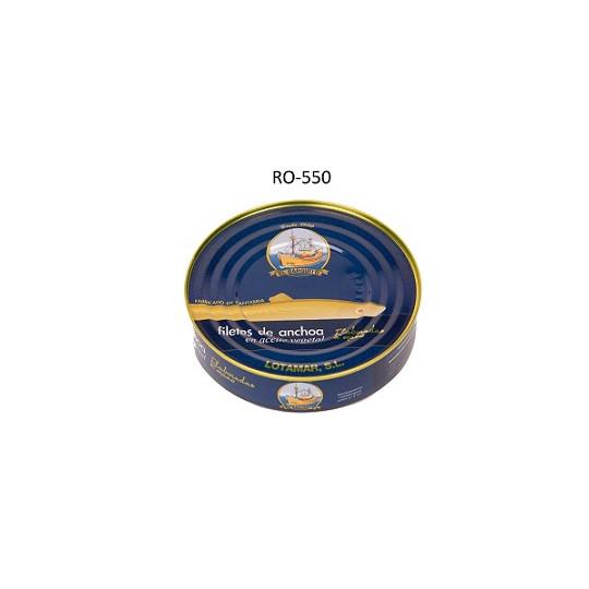 ANCHOA EN ACEITE VEGETAL 550 65/70U C12L