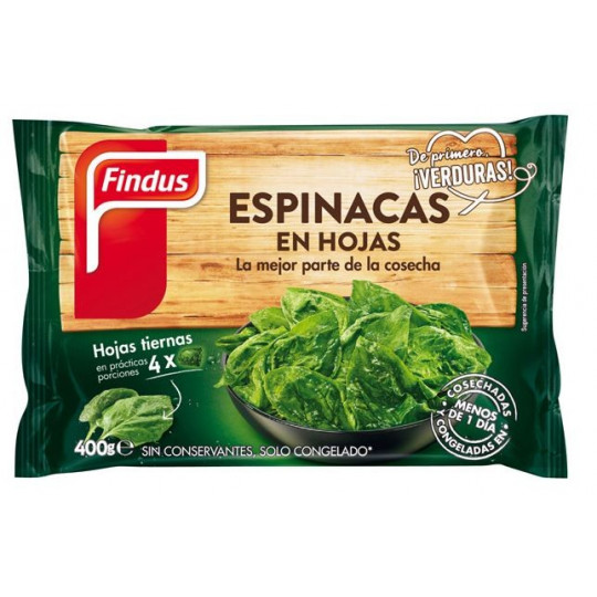 ESPINACAS HOJA BOLSA DE 400 GR